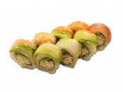 54. Rainbow roll topping