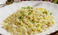 88. Stegte ris m. kylling