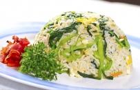 91. Stegte ris m. grøntsager
